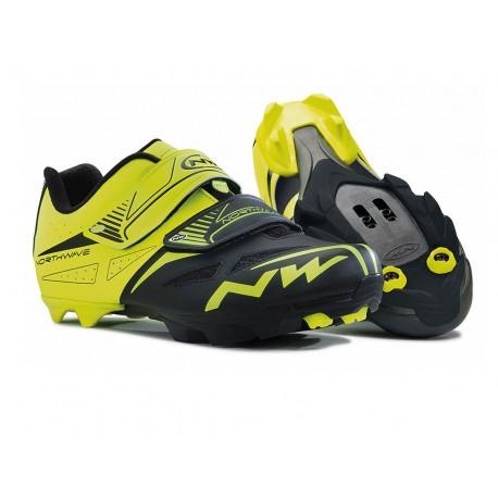 Zapatillas mtb NorthWave Spike Evo amarillo fluo/negro 2016