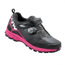Zapatillas mtb NorthWave Mission Plus Wmn negro/fuchsia 2016