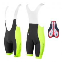 FORCE BIBSHORTS B40 WITH PAD BLACK/FLUOR