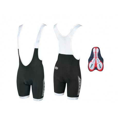 FORCE BIBSHORTS B38 WITH PAD BLACK