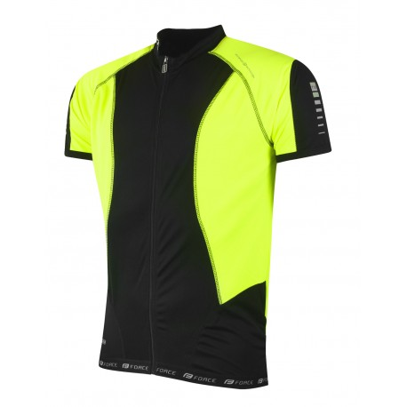 FORCE JERSEY T10 SH.SLEEVE BLACK/FLUO