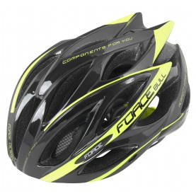 FORCE HELMET BULL BLACK-FLUOR