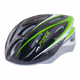 Casco Hal Color Negro/Verde/Blanco Force